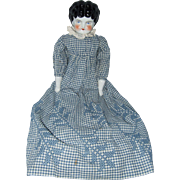 Large, Low Brow, Hertwig, German, China Head, Doll