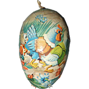 German Papier Mache Easter Egg