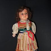 Antique Wax Ethnic All Original Doll
