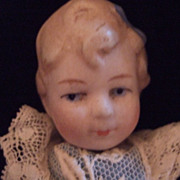 German Limbach All Bisque Miniature Doll