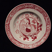 Antique Staffordshire Doll Plate