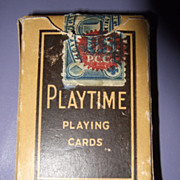 SOLD Playtime Playing Cards The US playing Card Co