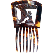 SOLD Egyptian Revival Hair Comb Victorian Spanish Mantilla Style Hair Accessory