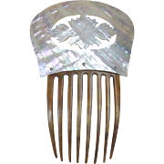Victorian Hair Comb Mother of Pearl Spanish Style Hair Accessory