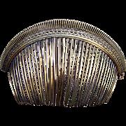 Georgian Tiara Style Hair Comb Fire Gilded Brass Filigree Hair Accessory