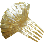 Vintage Hair Comb Art Deco Mother of Pearl Effect Hair Accessory