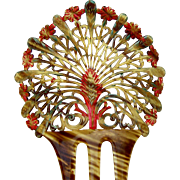 Art Deco Celluloid Hair Comb Spanish Style Hair Accessory