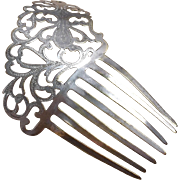 Pierced Steel Hair Comb Victorian Spanish Spanish Style Hair Accessory
