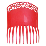 Art Deco Hair Comb Large Red Mantilla Style Hair Accessory