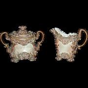 Rare Worcester Royal Porcelain Co. Cream/Sugar, C. 1872