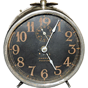 Classic Parker Clock Company Radium Wind Up Alarm Clock, C. 1927