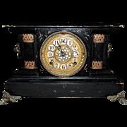 "Striking William L. Gilbert "" Royal"" Adamantine Shelf 8-day Clock, C. 1912"