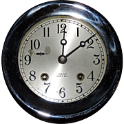 """Exquisite Chelsea 4.5"""" Ship's Bell Clock W/ Screw Bezel, C. 1945"""