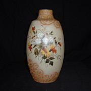 "REDUCED Hand Painted ""Bristol"" Enamel Gilded Vase, 19th Century"