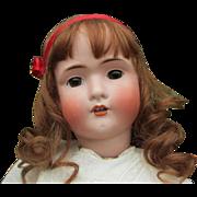 Huge Antique BSW in Heart Bruno Schmidt German Bisque Head Doll