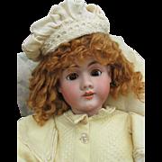 Lovely Huge Early Antique German Heinrich Handwerck Bisque Head Girl Doll