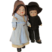 Vintage Composition Marie Pollack Mennonite Dolls