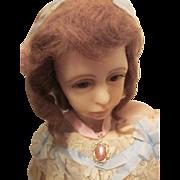 SALE Vintage Goldstone Doll Pendant