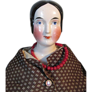Beautiful Antique EarlyGerman Kestner Bun Head China Head Doll