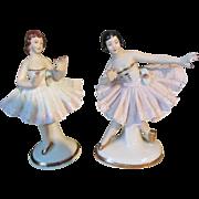 Exquisite Miniature Dresden China Ballerina Pair