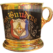 SALE Antique Free Masonry Shaving Mug