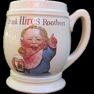 SALE Antique Hires Root Beer Mug Baby Face Villeroy & Boch