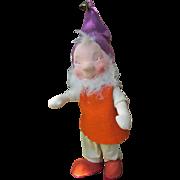 Vintage Italian Felt and Cloth Elf Doll