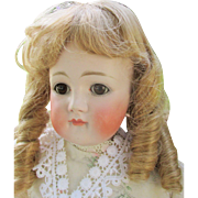 SALE Beautiful Large Closed Mouth Kestner Bisque Head Doll As Is