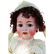 """Gorgeous Lifesize Kestner 257 Antique 28"""" Bisque Head Character : Jointed Wrists,Tremble Tongue"""