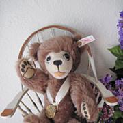 Steiff Berryman Teddy Bear - Limited Edition Brown Mohair