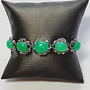 18k White Gold Bracelet with Chrysoprase