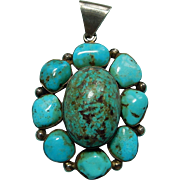 Large Turqouise Pendant Statement Piece