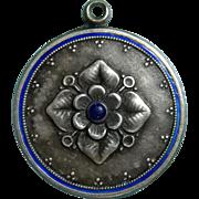 800 Silver and Enamel Charm Art Nouveau
