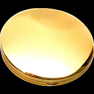 14k Gold Compact Clean Modern Design Loose Powder