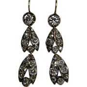 Elegant antique diamond drop earrings