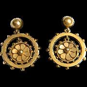 Etruscan Revival Victorian drop Earrings