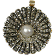 Fantastic Quality Rose Diamond and Pearl Pendant  (1099)