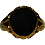 Antique 18ct Gold Bloodstone Signet Ring