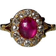 Victorian Cabochon Ruby Ring