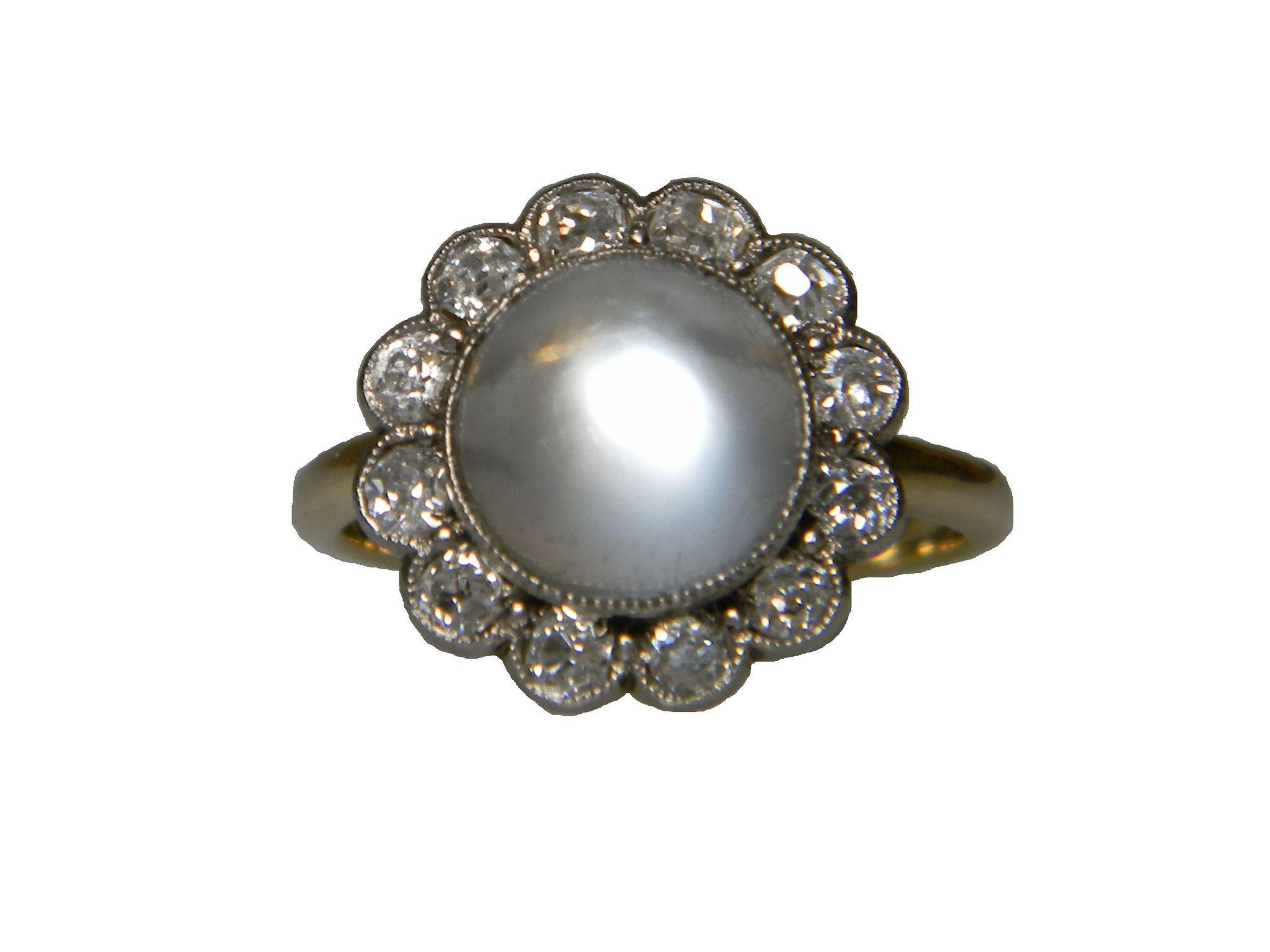 antique moonstone and ring from dbgems on ruby