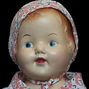 "Vintage Composition Shoulder Head 21""Baby Doll"