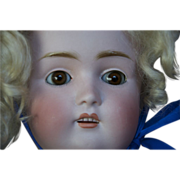 Kestner 168 F 10 doll, antique with square cut teeth