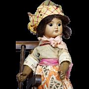 SFBJ mulatto 60 Paris French doll marked 6/0 circa 1918