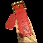 COACH Vintage Leather and Hemp Belt - Women's