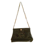 Vintage Morris Moskowitz Patent Leather Purse with Chain Strap