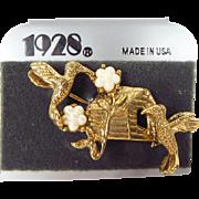 Darling Hummingbird Pin Brooch by 1928 Jewelry Company