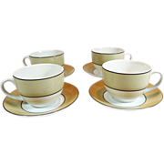 SALE Maxwell & Williams Set of 4 Cups & Saucers Savoy Pattern Plus Free U.S. Shipping