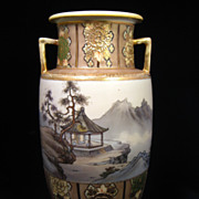 SALE Very Large Stunning Noritake Nippon Vase Urn with Asian Scene and Gorgeous  Gilt  Work