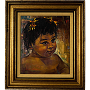 Original Mid-Century Painting by Linford Donovan (1906-2003)