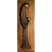 Original George J. Updegraff Wood Sculpture